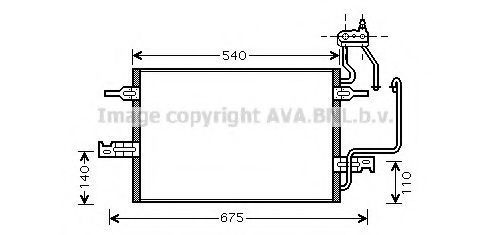 Радиатор кондиционера AVA OL5349