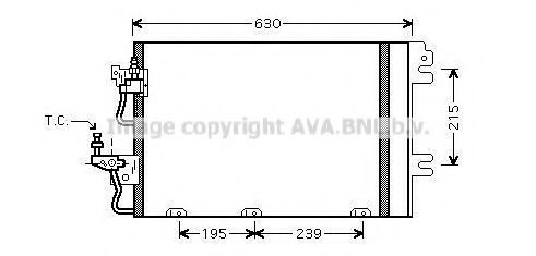 Конденсор кондиционера AVA OL5366D