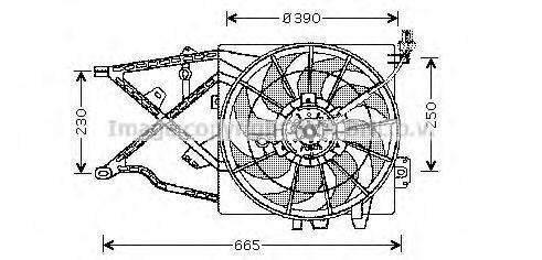 Вентилятор охлаждения радиатора AVA OL7505