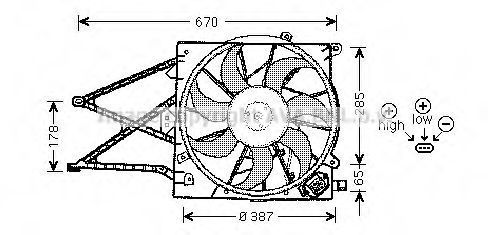 Вентилятор AVA OL7509