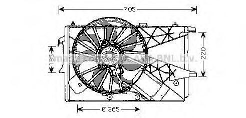 Вентилятор в сборе AVA OL7527