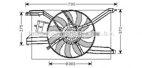 Вентилятор, охлаждение двигателя AVA OL7532