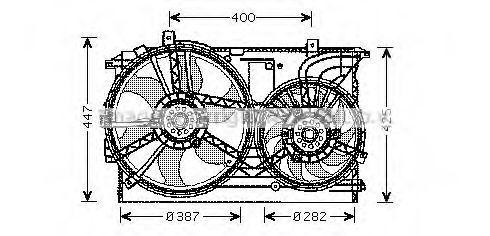 Вентилятор охлаждения радиатора AVA OL7533