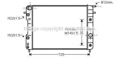 Радиатор охлаждения AVA OLA2202
