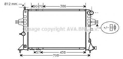 Радиатор охлаждения AVA OLA2252