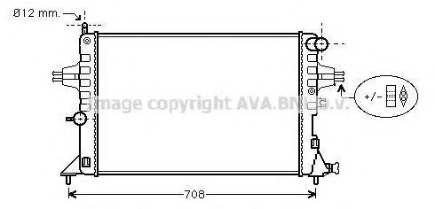 Радиатор охлаждения AVA OLA2296