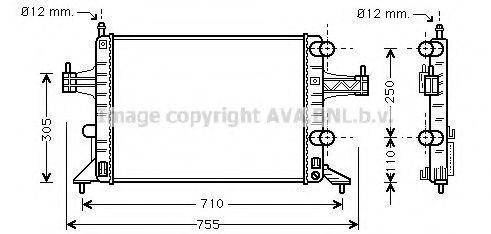 Радиатор охлаждения AVA OLA2303