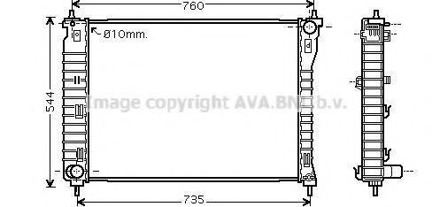 Радиатор охлаждения AVA OLA2435