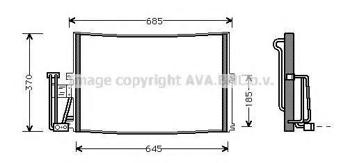 Радиатор кондиционера AVA OLA5241