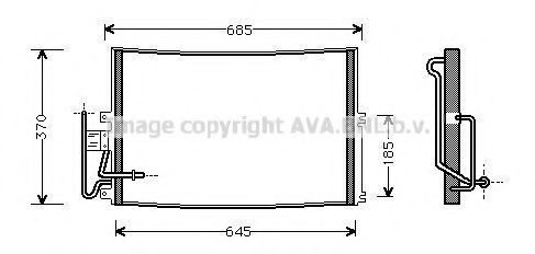 Радиатор кондиционера AVA OLA5274