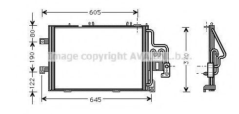 Радиатор кондиционера AVA OLA5307