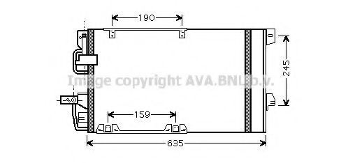 Радиатор кондиционера AVA OLA5326