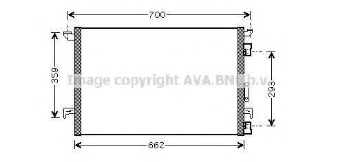 Радиатор кондиционера AVA OLA5333