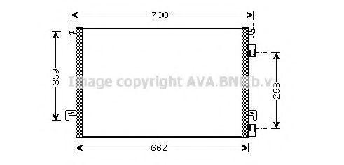 Радиатор кондиционера AVA OLA 5397