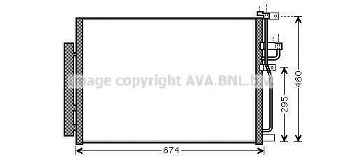 Конденсор кондиционера AVA OLA5436D