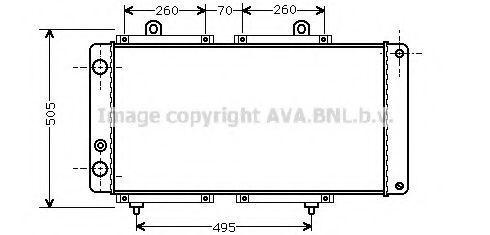 Радиатор охлаждения AVA PE2033