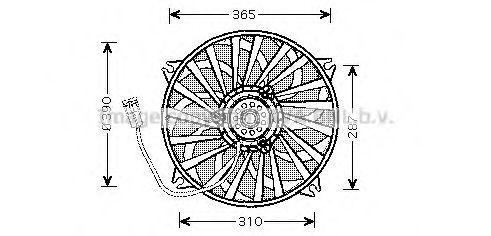 Вентилятор охлаждения радиатора AVA PE7531