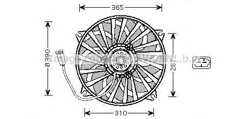 Вентилятор AVA PE7535