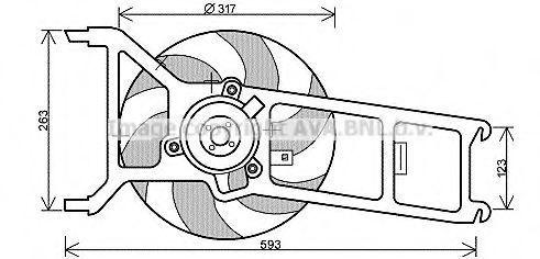 Вентилятор, охлаждение двигателя AVA PE7536