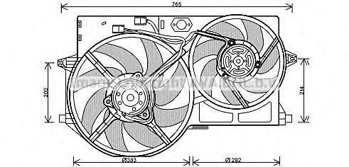 Вентилятор, охлаждение двигателя AVA PE7543