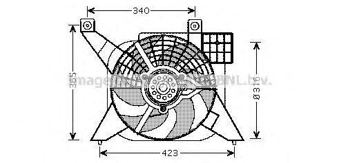 Вентилятор радиатора AVA PE7545