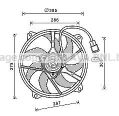 Вентилятор, охлаждение двигателя AVA PE7556