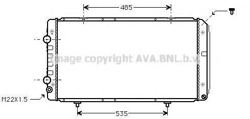 Радиатор охлаждения AVA PEA2145