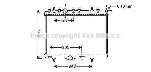 Радиатор охлаждения AVA PEA2255