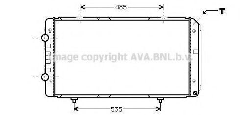 Радиатор охлаждения AVA PEA2268