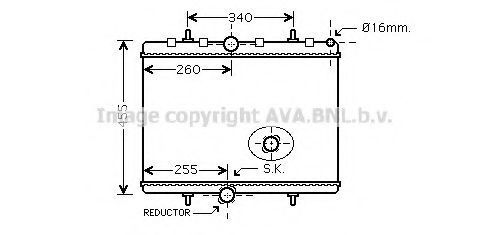 Радиатор охлаждения AVA PEA2314