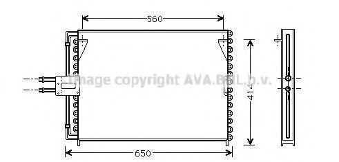 Радиатор кондиционера AVA RT5189