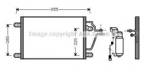 Радиатор кондиционера AVA RT5211