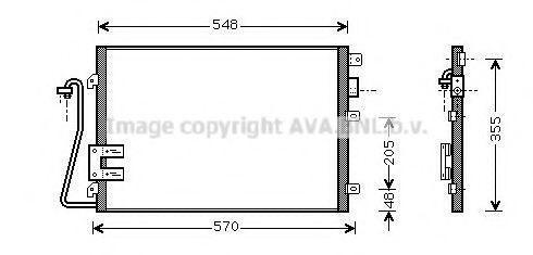 Радиатор кондиционера AVA RT5376D