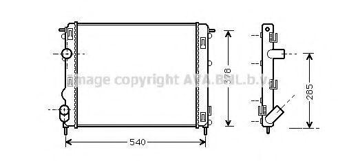 Радиатор охлаждения AVA RTA2270