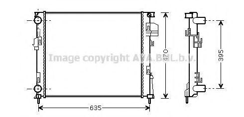 Радиатор охлаждения AVA RTA2303