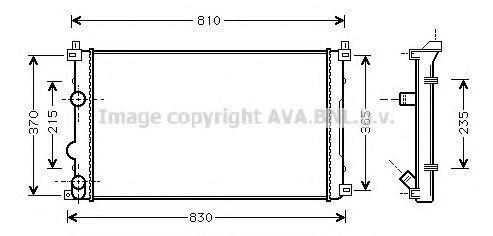 Радиатор охлаждения AVA RTA2322
