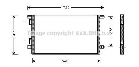 Радиатор кондиционера AVA RTA5253