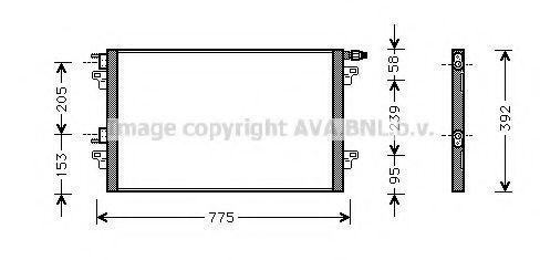 Радиатор кондиционера AVA RTA5280