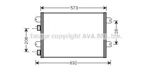 Радиатор кондиционера AVA RTA5317