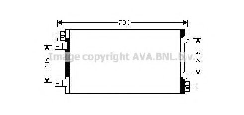 Радиатор кондиционера AVA RTA5342
