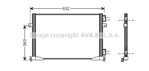 Радиатор кондиционера AVA RTA5400