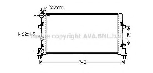 Радиатор охлаждения AVA STA2037