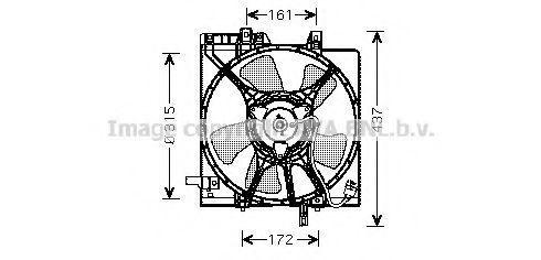 Вентилятор, охлаждение двигателя AVA SU7510