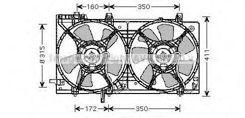 Вентилятор, охлаждение двигателя AVA SU7512