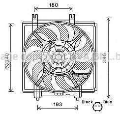 Вентилятор, охлаждение двигателя AVA SU7515