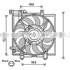 Вентилятор, охлаждение двигателя AVA SU7516