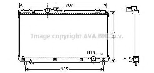 Радиатор, охлаждение двигателя AVA TO2321