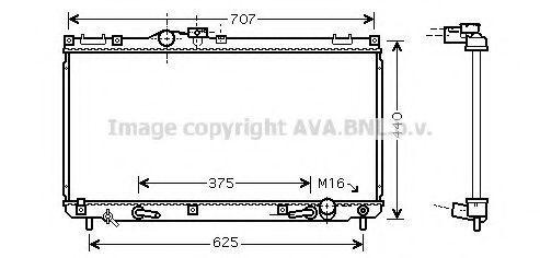 Радиатор, охлаждение двигателя AVA TO2322