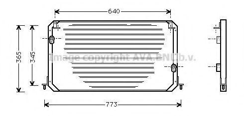 Радиатор кондиционера AVA TO5224