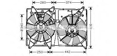 Вентилятор, охлаждение двигателя AVA TO7533